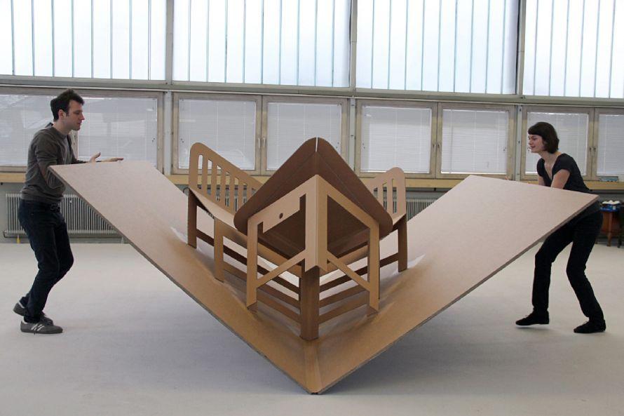 furniture idea. Space Saving Furniture Ideas Using Foldable Cardboard Idea R