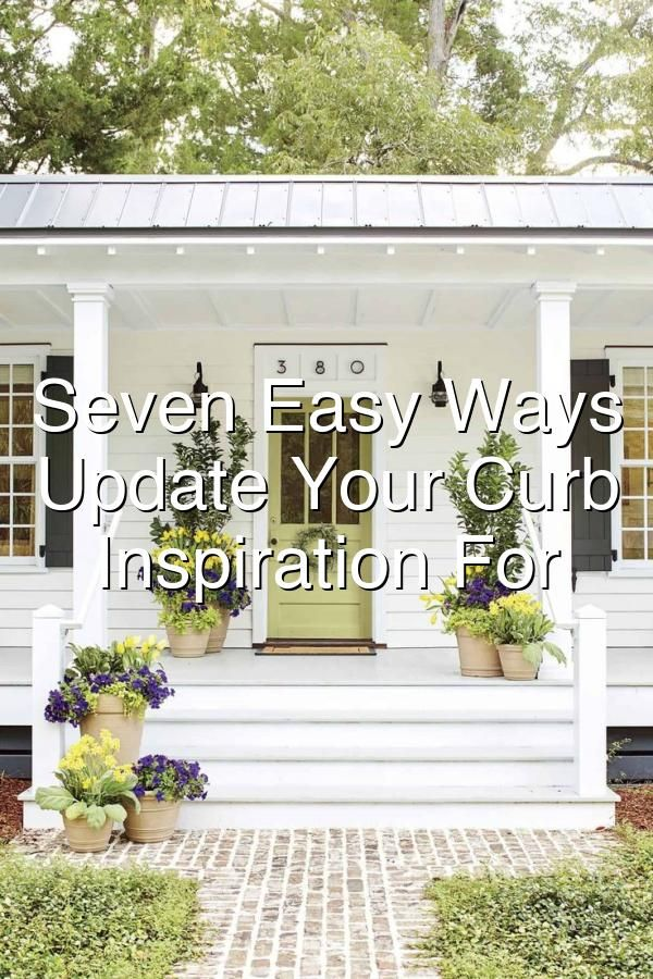 Improving your homes curb appeal shouldnt be reserved for just when selling Discover 7 easy ways to freshen up your homes outdoor appearance curbappeal FrontDoorDecor PorchDecorIdeas
