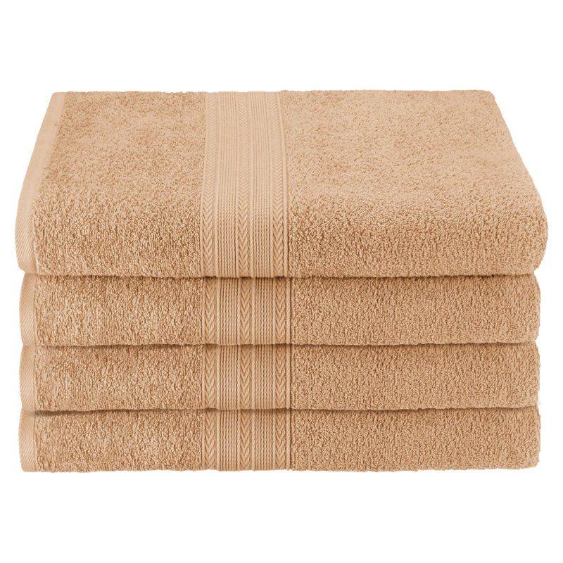 Superior Eco-Friendly 100% Ringspun Cotton 4 Piece Bath Towel Set