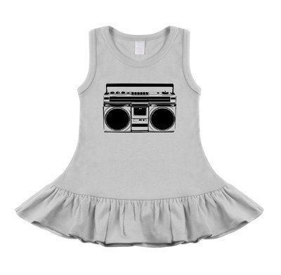 Boombox White & Black Sleeveless Dress #blacksleevelessdress
