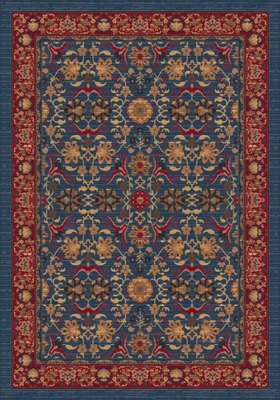 Pastiche Kamil Blue Grey Nylon Area Rug - Milliken Rugs | Rugs by SelectRugs.com
