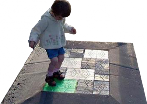The Future Of Green Tech A Piezoelectric Floor Captures Energy Emissions From People Walking On It