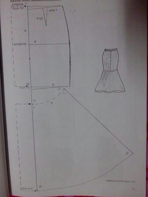 Peplum skirt drafting | pola | Pinterest | Bauchtanz, Gestalten und ...