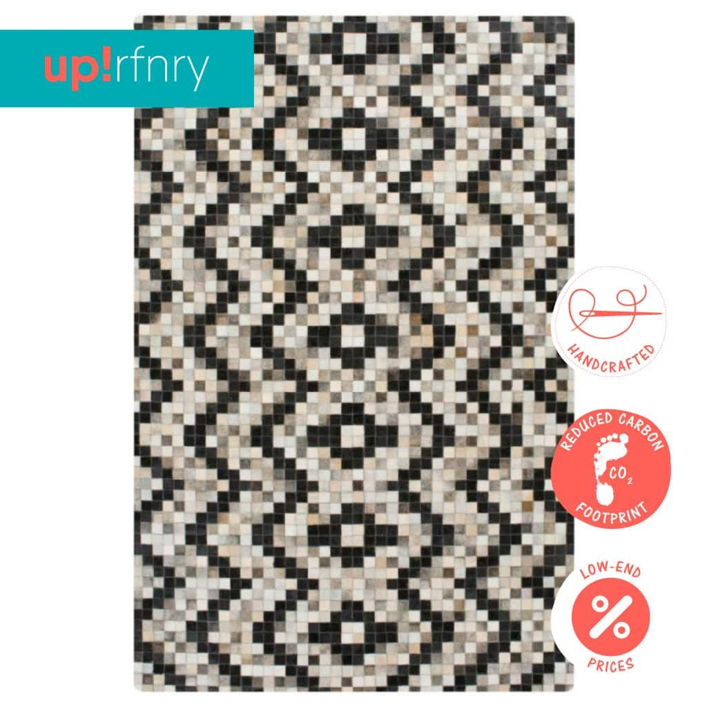 Zigzag Cowhide Rug Upcycle Refinery Free Worldwide Shipping Cow Hide Rug Rugs Refinery
