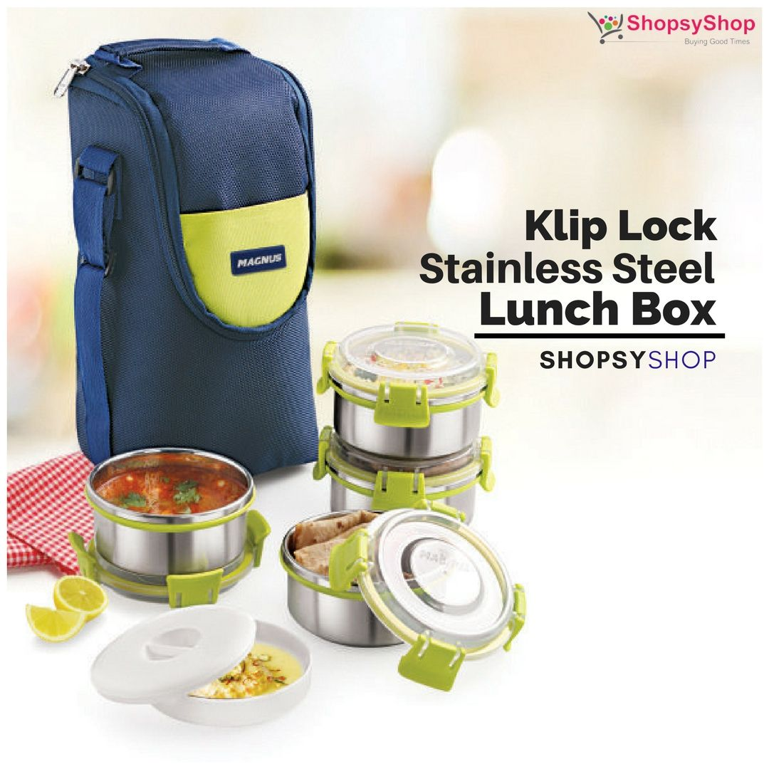 Buy Klip Lock #Stainless Steel #LunchBox with Leakproof & #Airtight ...
