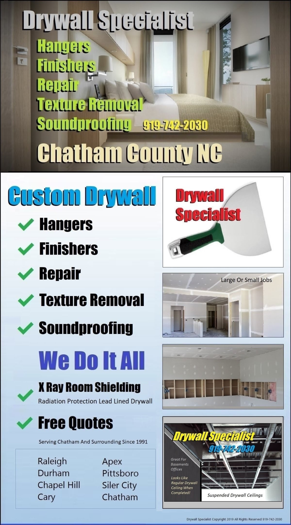 Custom Wallboard Pittsboro Drywall Specialist Competitive Prices And Free Quotes On Large Or Small Custom Sheetrock Wa In 2020 Drywall Repair Chatham County Pittsboro