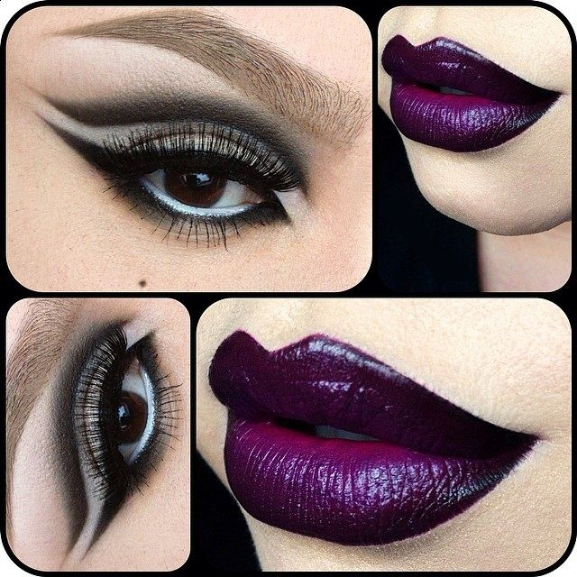 makeup Make up darkness goth red lips tutorial black lips