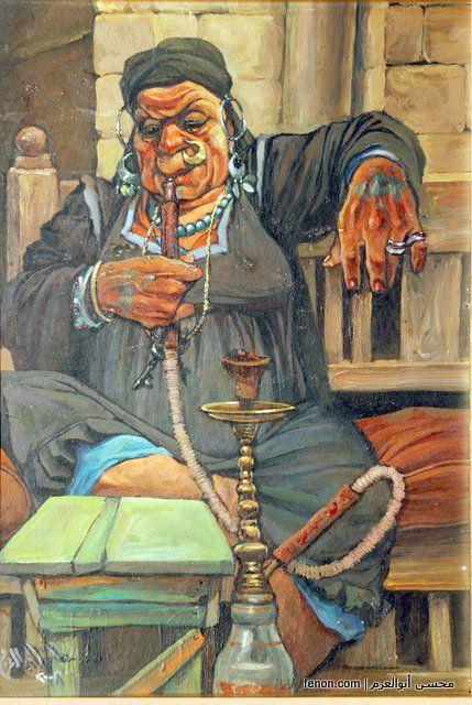 Mohsen Abuelazm Egyptian Painter تحت عنوان خلصتى التعميرة مع كامل احترامى للفنان محسن ابو العزم Egyptian Art Egypt Art Egyptian Painting