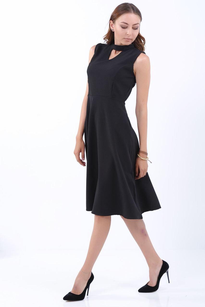 c140eed7cc204 Yaka V Kolsuz Siyah Elbise #giyim #indirim #kampanya #bayan #erkek #bluz  #gömlek #trençkot #hırka #etek #yelek #mont #kaşe #kaban #elbise #abiye  #büyükbeden ...
