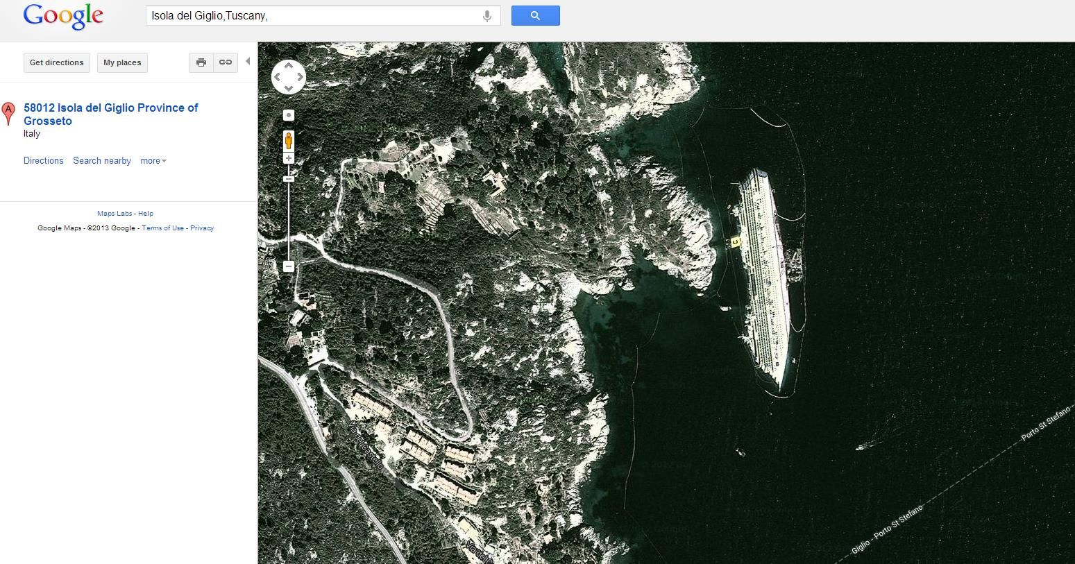Remember The Costa Concordia Disaster It S Visible From Outer Space Costa Concordia Disaster Concordia Outer Space
