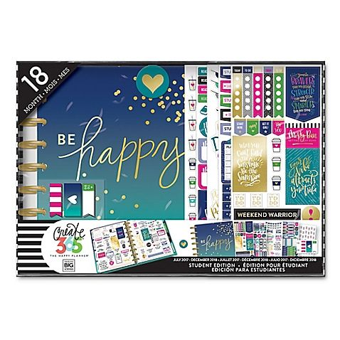 The Happy Planner Be Happy 18 Month Calendar College Pinterest