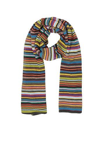 1cefedc0bea5 Paul Smith Multi-Coloured Stripe Knit Men's Scarf | Спицами | Mens ...