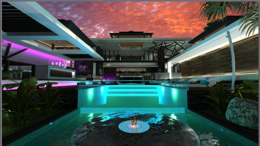 New chris clout design in melbourne is a modern resort for Pool lights melbourne