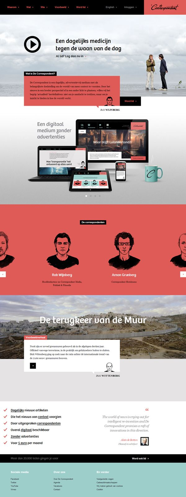 Message Creative Share Project ABOUT PROJECT De Correspondent is a Dutch-language, online journalism platform that focuses on analysis, back...