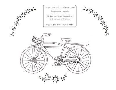 Free Bicycle Embroidery Pattern Embroidery Patterns Free