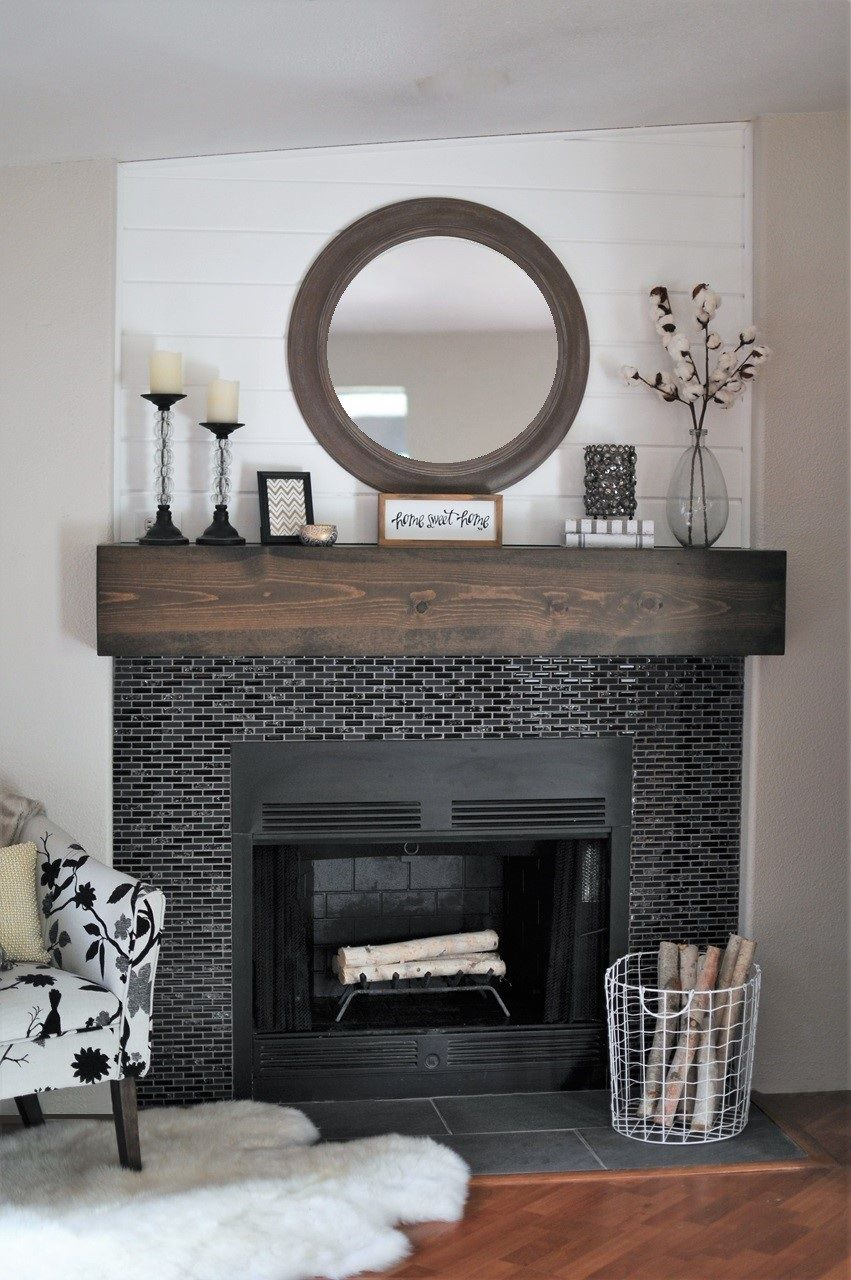 From cluttered to classy a rustic glam fireplace makeover joyful