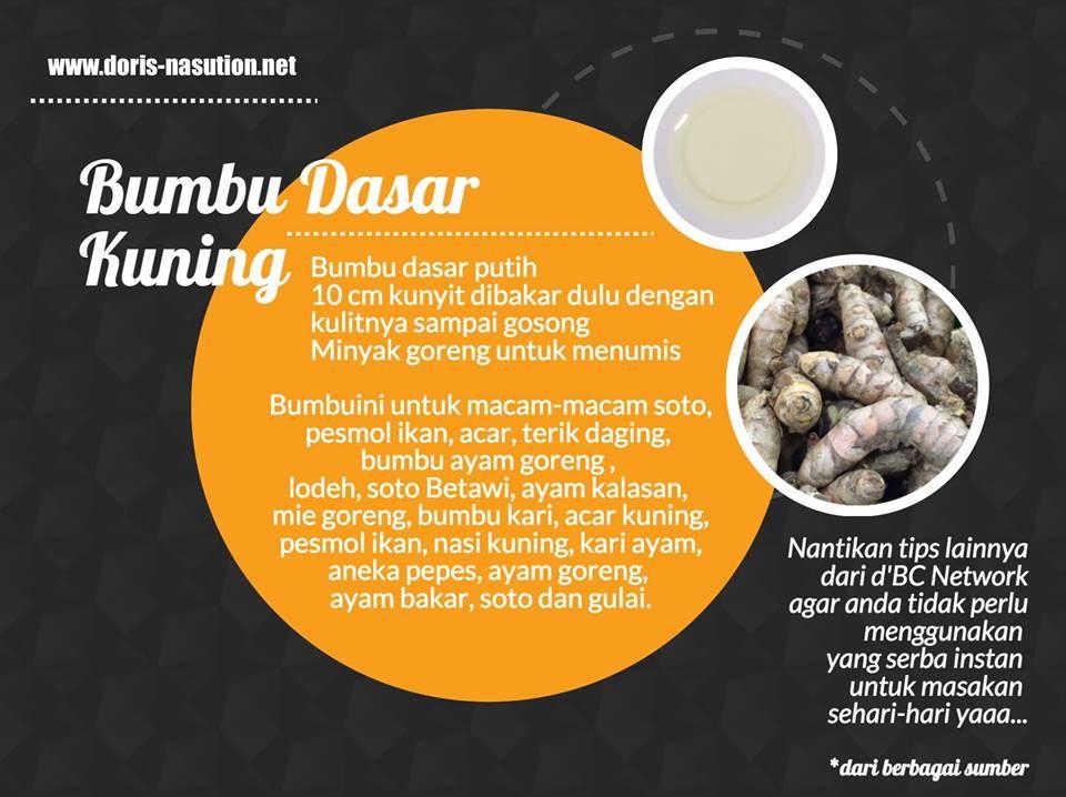 Resep Bumbu Dasar Kuning Merah Dan Putih Resep Resep Masakan Indonesia Makanan Enak
