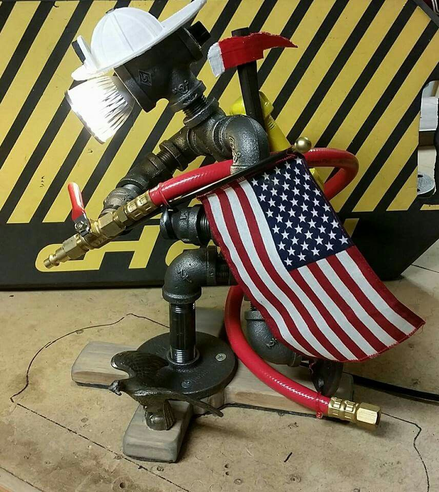 Fireman pipe lamp lamp in pinterest pipe lamp pipes and