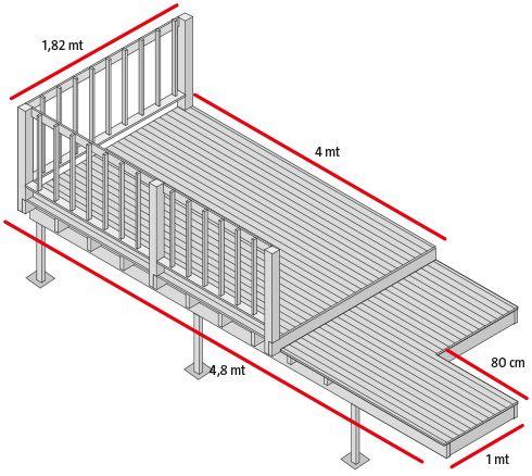 H galo usted mismo c mo construir una terraza de madera caba as cottage log homes de - Construir una terraza ...