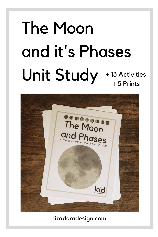 Moon Phase Printables Unit Studies Homeschool Study Unit Math Pages [ 1500 x 1000 Pixel ]