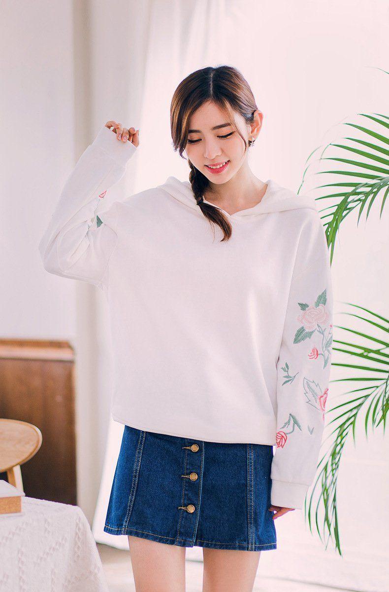 Korean fashionujapaneseembroidery hood in beauty
