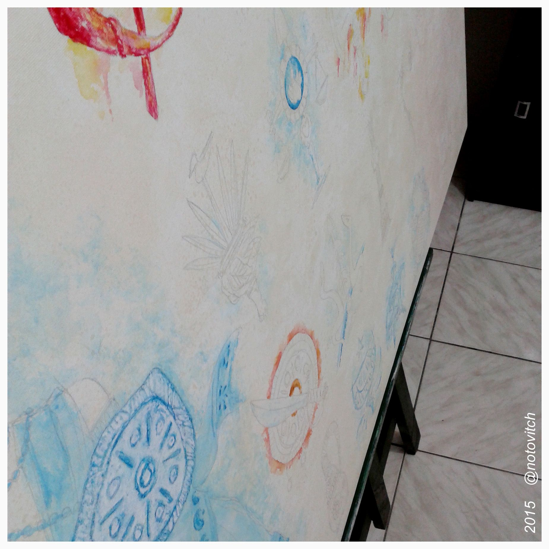 ARTE ENCOMENDADA! Pintando o painel dos Orixás