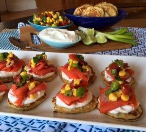 Verlasso Smoked Salmon with Corn Cakes and Corn Salsa | Verlasso