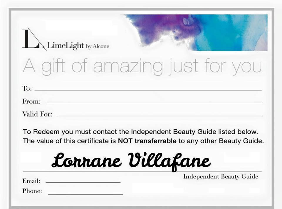 And they are here!!! Gift certificates for limelight by alcone - fresh younique gift certificate template