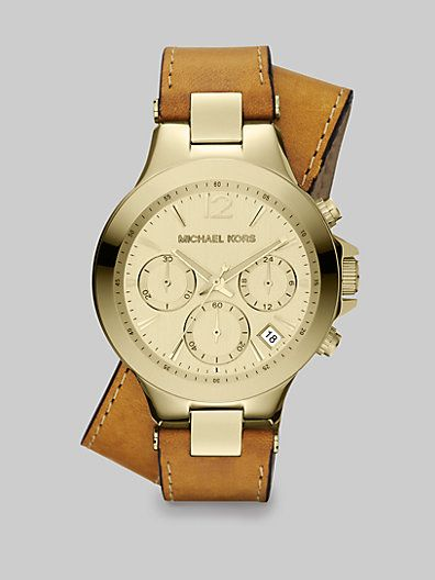 Peyton Double Wrap Strap Michael Kors Chronograph #saks #saksfifthavenue