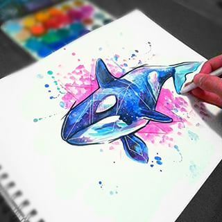 watercolor orca - Google Search | Tattoo Ideas | Pinterest ...