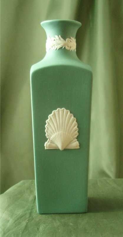 Wedgwood Teal Jasper Ware Bottle Vase