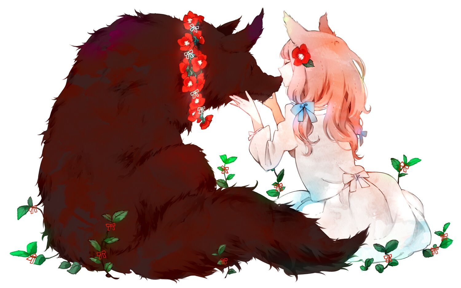 Anime girl with wolf pretty anime style pics pinterest - Wolf girl anime pictures ...