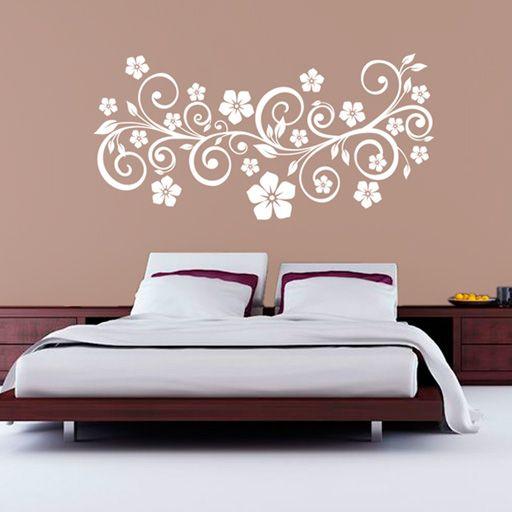 Vinilo floral vinilos baratos como cabeceros pinterest vinilos decorar paredes y cabeceras - Vinilo pared barato ...