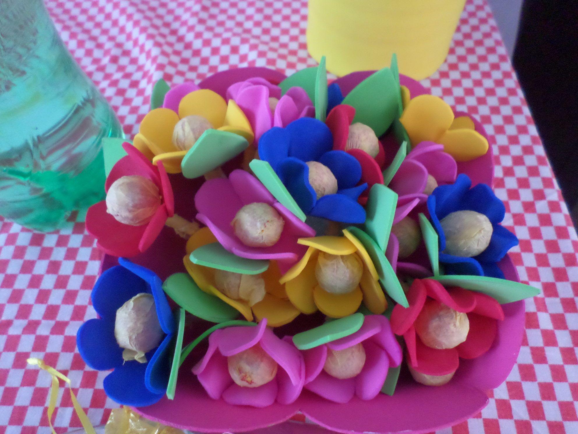 Paletas en forma de flores