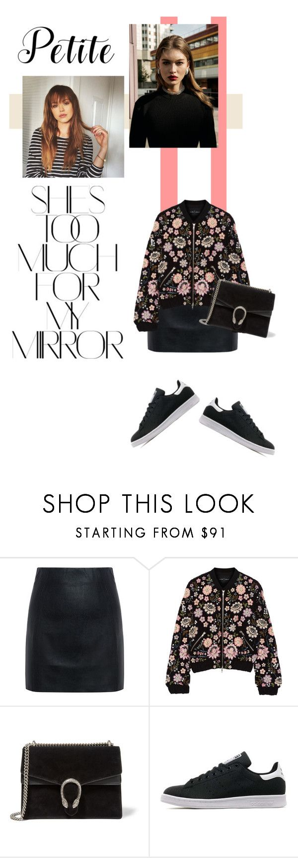 """""""petite"""" by katerina-rampota ❤ liked on Polyvore featuring McQ by Alexander McQueen, Needle & Thread, Gucci, adidas Originals, Rika, petit and powerlook"""