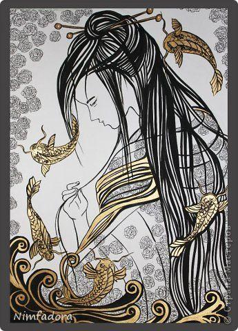 Картина панно рисунок Рисование и живопись Мои гейши ...