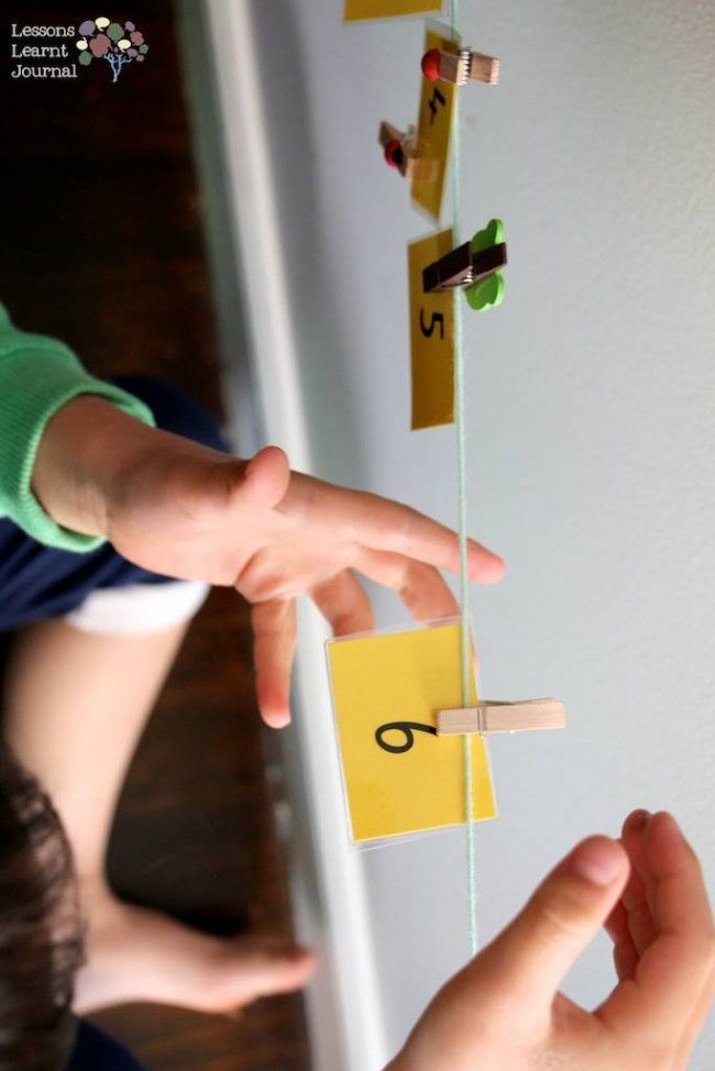 Math Games: Numbers Washing Line | Easy math games, Easy math and ...