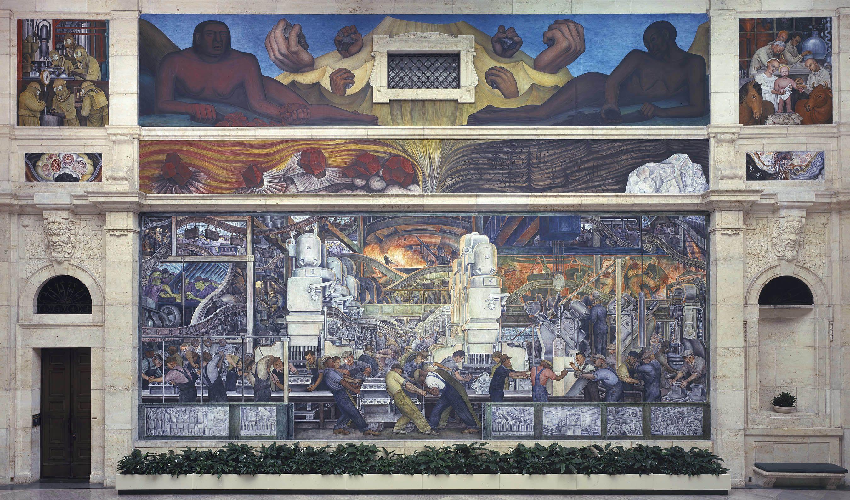 The Detroit Industry Murals By Diego Rivera Detroit Art Museum Detroit Institute Of Arts Diego Rivera