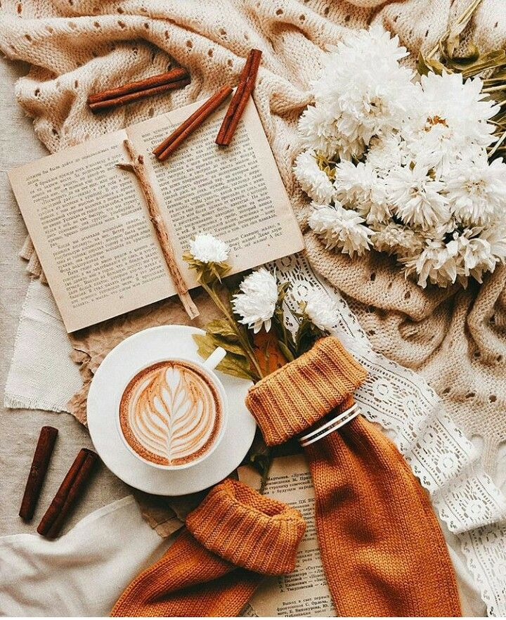 brown aesthetic feed coffee and books book