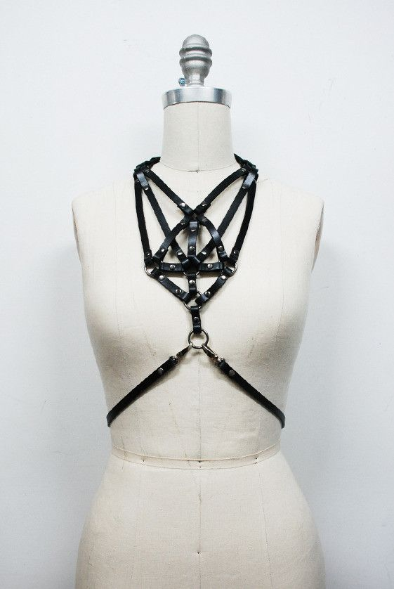 chain gold necklace dp fashion body metal harness jewelry double cross