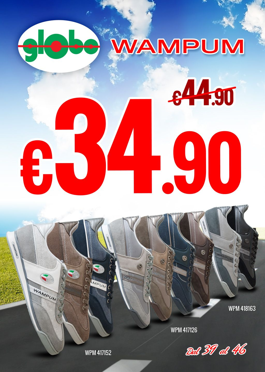 sale retailer 1a344 b39a4 Sneakers #Wampum a solo € 34.90!!!   Globo Calzature   Globi