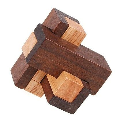 Chinese Wooden Puzzle Toys Diy Chinese Kongming Wooden