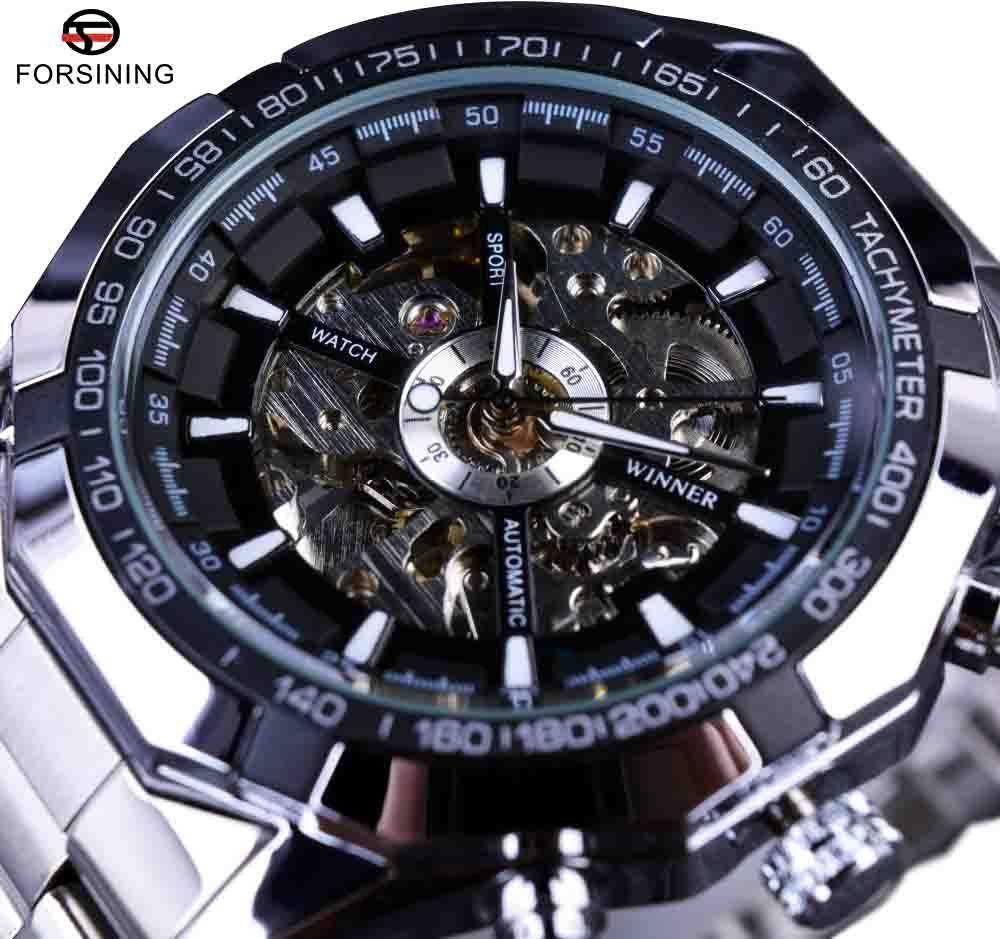 Full Golden Men Automatic Skeleton Watch Mens Sport Watch Designer