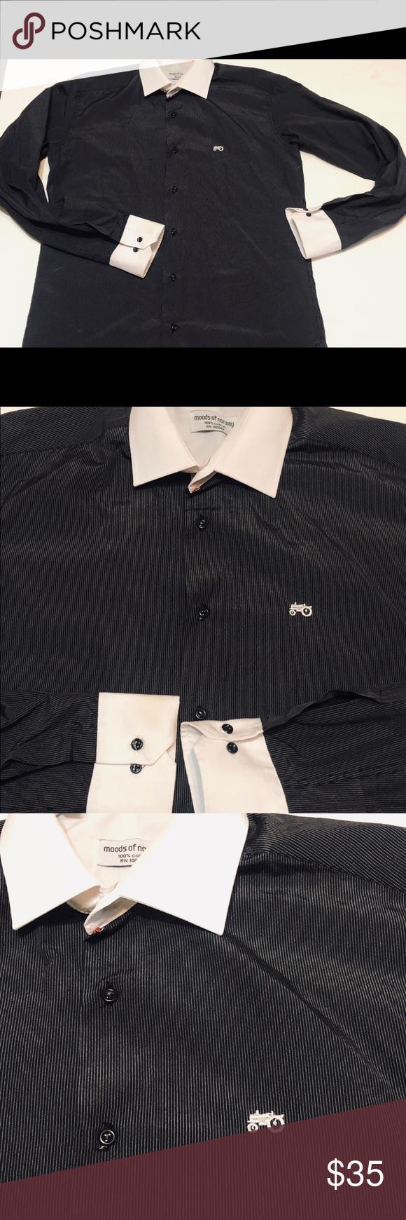 Moods Of Norway Black Striped White Collar Shirt Moods Of Norway Black Striped White Collar Shirt Sz L Preowne White Collared Shirt Collar Shirts Black Stripes [ 1740 x 580 Pixel ]