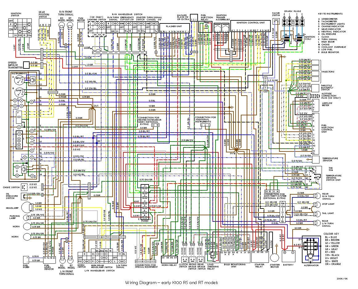 Http Www Kbikeparts Com Classickbikes Com Ckb Tech 0 Ckb Tech Files Kwiring Early 20k75 20k100 K100 Early Wiring Diagram Jpeg Bmw K100 Kenworth Diagram