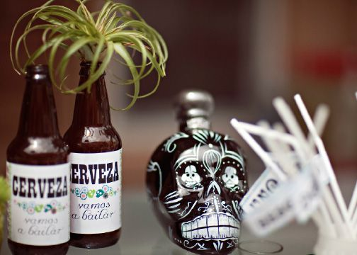 Cinco De Mayo party inspiration from Canvas & Canopy Events called Sombreros y Rancheros. Kah tequila has coolest skull bottles!