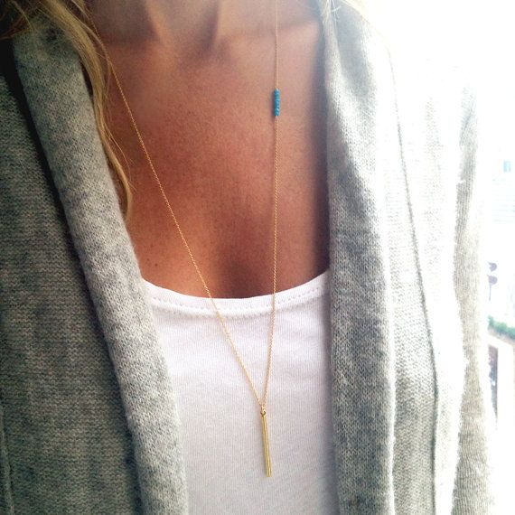 Long Gold Necklace Gold Bar Necklace Gold Birthstone Necklace Layered Necklace Dainty Necklace B Gold Long Necklace Long Silver Necklace Gold Bar Necklace