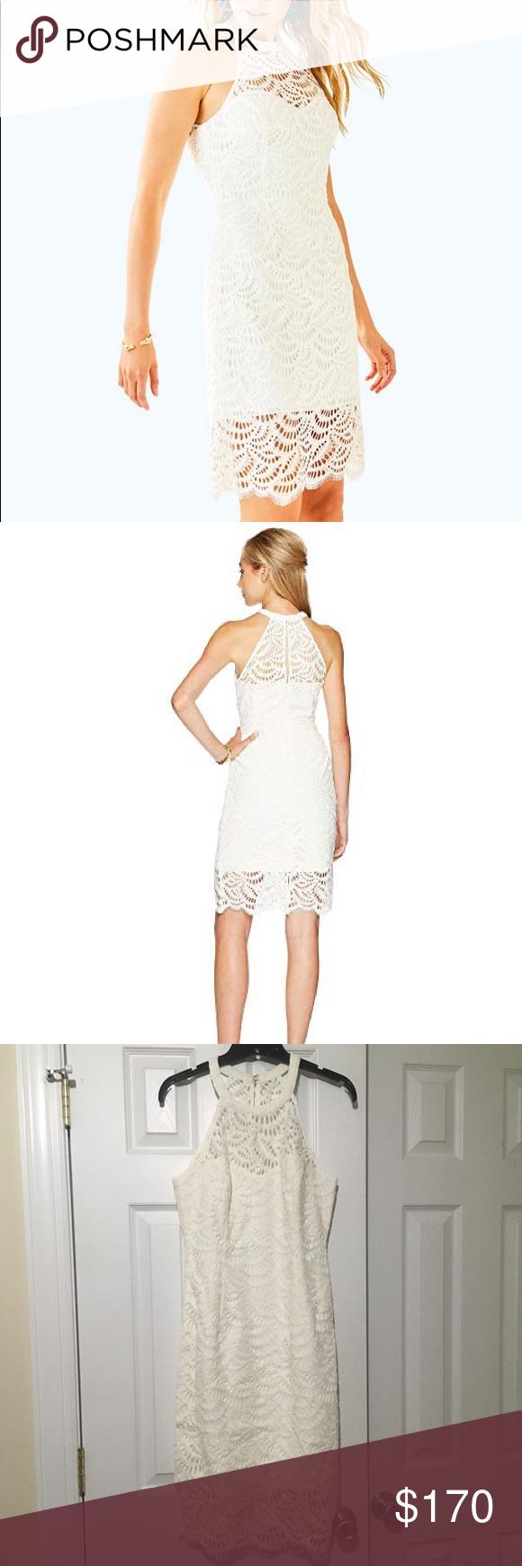 New Lilly Pulitzer Kenna White Lace Dress Beautiful Brand