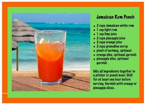 Alcohlic Mixed Drink Jamaican Sunrise