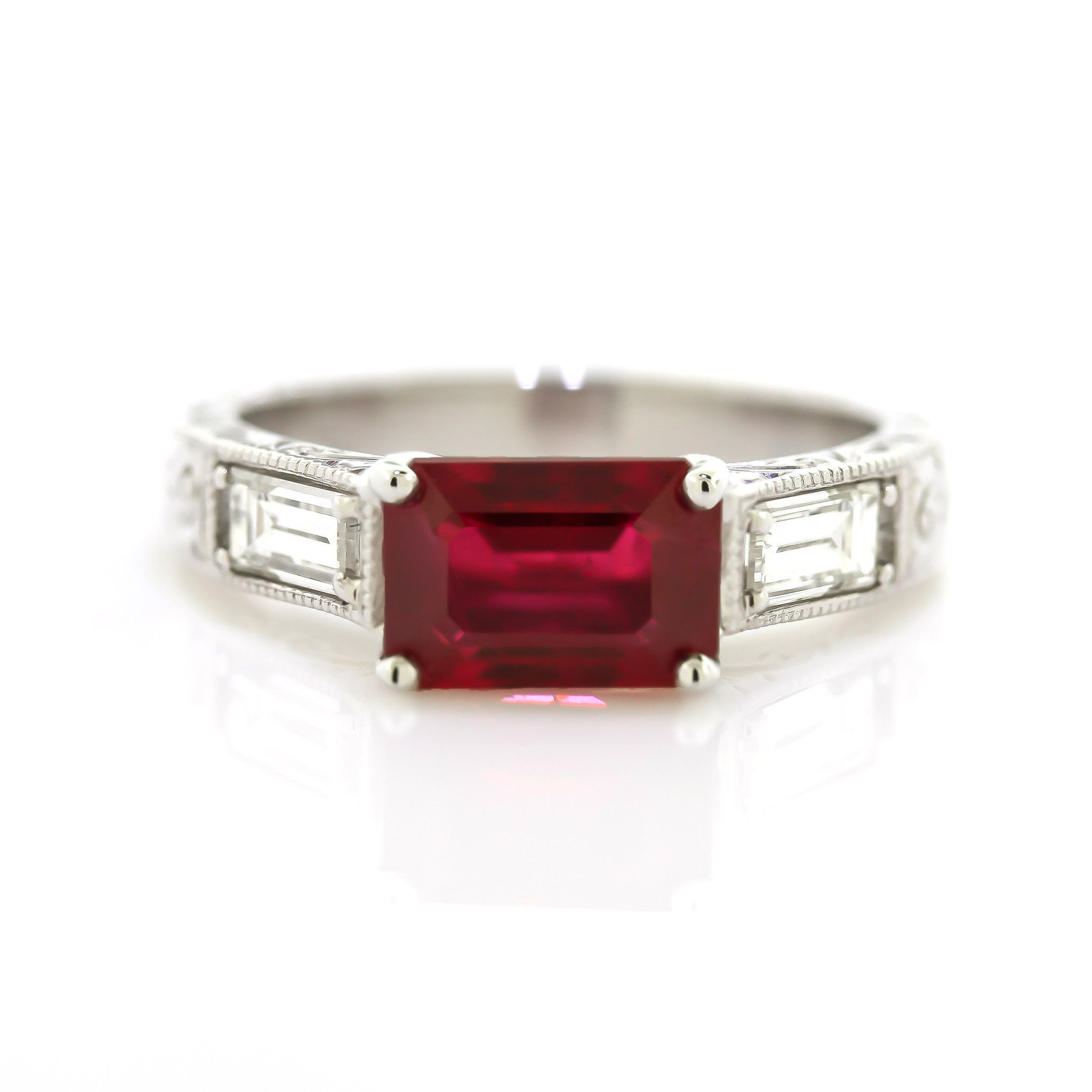 product contemporary the halo finest in london gold jewellery handmade rose ruby ring diamond